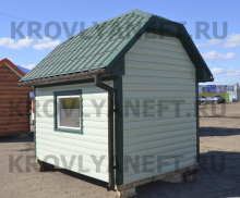 Обшивка дома металлосайдингом крашеным блок хаус