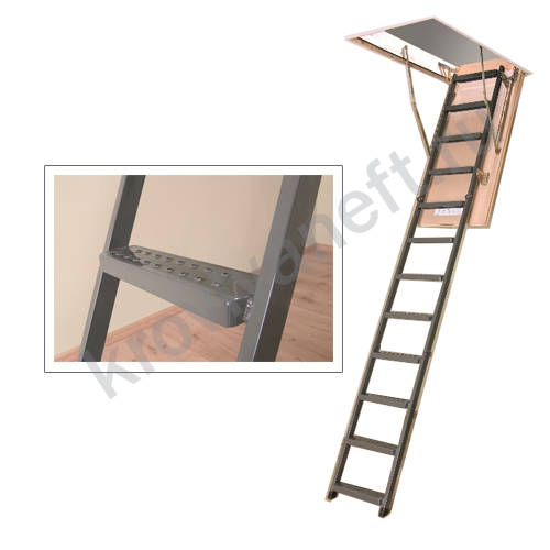 Лестница металлическая складная LMS