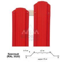 Штакетник металлический красный (RAL 3020)