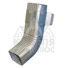 Труба водосточная 76х102х3000 с коленом оцинкованная