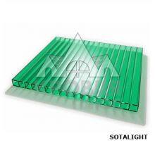 Сотовый поликарбонат 6*2100*6000 мм (зеленый) SOTALIGHT купить в Нефтекамске
