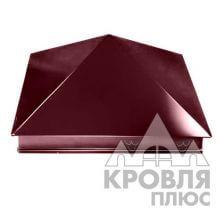 Оголовок 390х390 RAL 3005 (Красное вино)