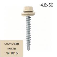 Саморез RAL 1015 Слоновая кость 4,8*50