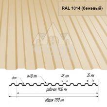 НС-10 Бежевый (RAL 1014) полиэстер т. 0,4 мм