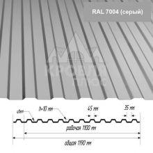 НС-10 Серый (RAL 7004) полиэстер т. 0,4 мм