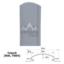 Штакетник полукруглый 11 см Серый (RAL 7004)