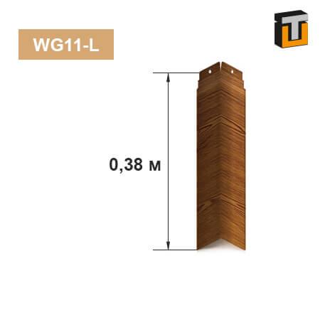 Внутренний угол фасадной панели WG11-L