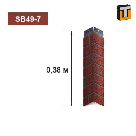 Внутренний угол фасадной панели Термопан SB49-7