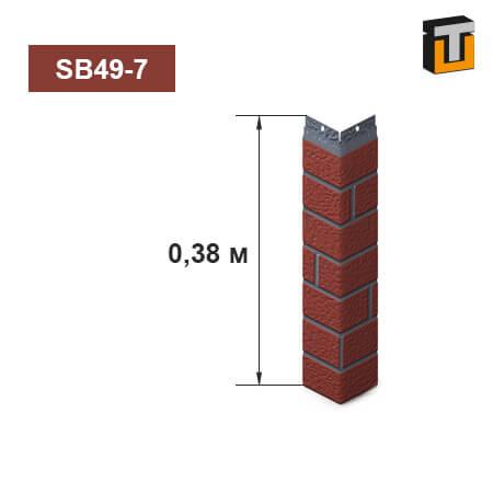 Внешний угол фасадной панели Термопан SB49-7