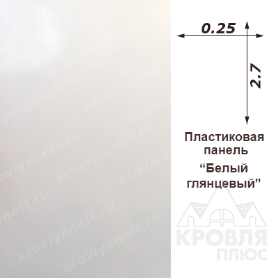 Панель пластиковая 0,25х2,70 белый лак глянцевая
