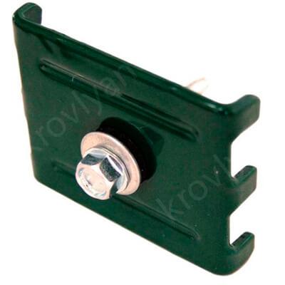 Крепление (скоба и саморез 5.5x32) RAL 6005 Зеленый мох