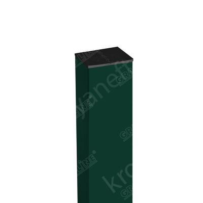 Столб 62x55x1.40 мм RAL 6005 Зеленый мох оцинкованный 2.50 м + заглушка
