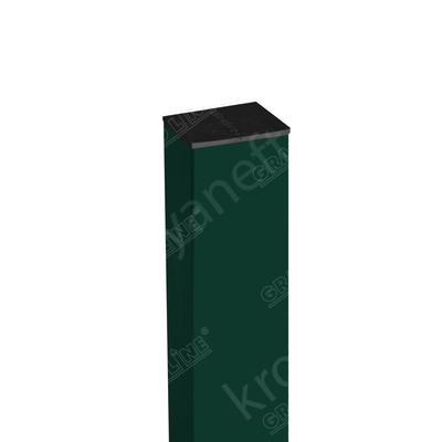 Столб 62x55x1.40 мм RAL 6005 Зеленый мох оцинкованный 3 м + заглушка