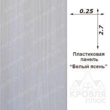 Панель пластиковая 0,25х2,70 Белый ясень