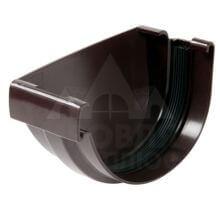 Заглушка желоба коричневая левая на уплотнителе LG29 Vodalis
