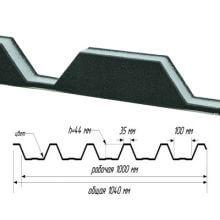 Уплотнитель для профнастила С-44 х 1000-А (верхний) в продаже в Нефтекамске