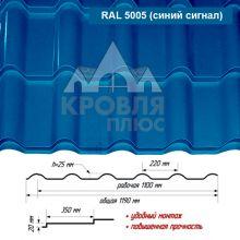 Банга Синий Сигнал RAL 5005 ш. 1.19 (1.10) м