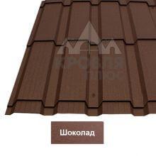 Металлочерепица Каскад (Стальной Бархат) Шоколад 8017
