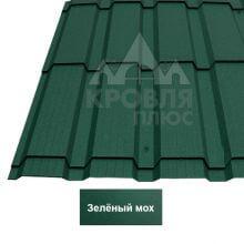 Металлочерепица Каскад (Стальной Бархат) Зелёный мох 6005