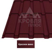 Металлочерепица Каскад (Стальной Бархат) Красное вино 3005