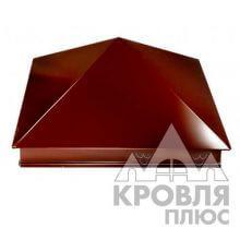 Оголовок 390х390 RAL 8017 (Шоколад)