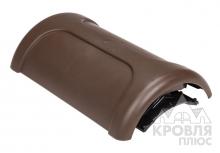 Коньковый вентиль для металлической кровли PELTI KTV/HARJA коричневый