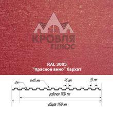 НС-10 Красное вино (RAL 3005) Стальной Бархат