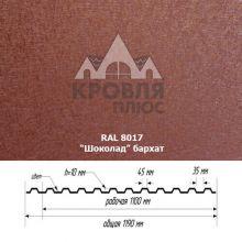 НС-10 Шоколад (RAL 8017) Стальной Бархат