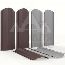 Штакетник фигурный 11 см Шоколад (RAL 8017)