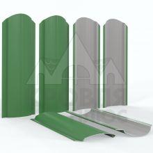 Штакетник фигурный 11 см Зелёный лист (RAL 6002)