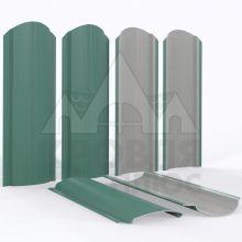Штакетник фигурный 11 см Зелёный мох (RAL 6005)