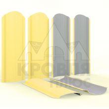 Штакетник фигурный 11 см Желтый (полиэстер, RAL 1018)