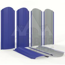 Штакетник фигурный 11 см Синий ультрамарин (полиэстер, RAL 5002)