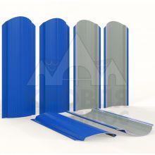 Штакетник фигурный 11 см Синий сигнал (полиэстер, RAL 5005)