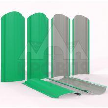 Штакетник фигурный 11 см Зелёная мята (полиэстер, RAL 6029)