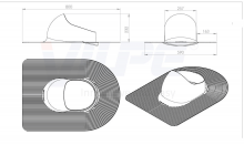 Проходной элемент Huopa (схема и размеры)