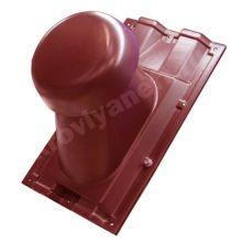 Выход вентиляции на профнастил С-21 (красный)