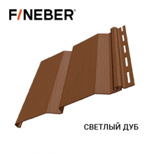 Сайдинг FineBer Plus Светлый Дуб (0,205 х 3,66) 16 шт./уп.