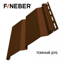 Сайдинг FineBer Plus Темный Дуб (0,205 х 3,66) 16шт./уп.