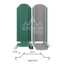 Штакетник широкий металлический опал (RAL 6026)