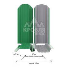 Штакетник широкий металлический Зелёный мята (RAL 6029)