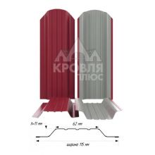 Штакетник широкий металлический Рубин (RAL 3003)