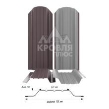 Штакетник широкий металлический Шоколад (RAL 8017)