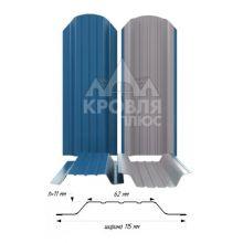 Штакетник широкий металлический Синий сигнал (RAL 5005)