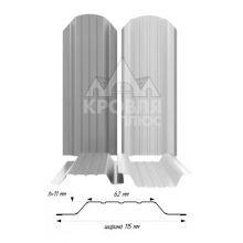 Штакетник широкий металлический Серый (RAL 7004)