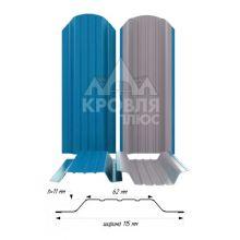 Штакетник широкий металлический Небесно-голубой (RAL 5015)
