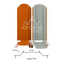 Штакетник широкий металлический Апельсин (RAL 2004)