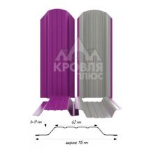 Штакетник широкий металлический Пурпурный (RAL 4006)