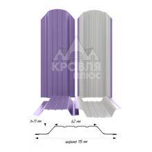 Штакетник широкий металлический Сиреневый (RAL 4005)