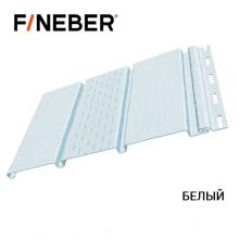 Софит FineBer с перфорацией 1-ой доски 3,0*0,3 Белый (10 шт/уп)